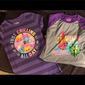 Shopkins bundle, t-shirt and nightgown